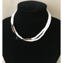Collier surf coquillages et coco